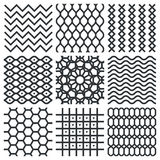 Vector geometrische texturen Stock Afbeeldingen