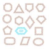 Vector geometrische uitstekende geplaatste kaders Royalty-vrije Stock Afbeelding