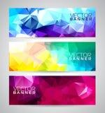 Vector geometrische van de driehoekenbanner reeks als achtergrond Stock Fotografie