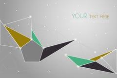 Vector geometrische veelhoekachtergrond Royalty-vrije Stock Afbeelding
