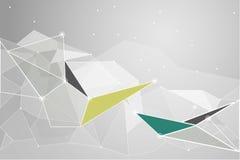Vector geometrische veelhoekachtergrond Royalty-vrije Stock Afbeeldingen