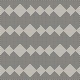 Vector geometrisches Muster mit diagonalen Linien, Quadrate Kreatives einfarbiges Design lizenzfreie abbildung