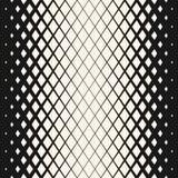 Vector geometrisches nahtloses Halbtonmuster mit verblassenden Rauten Hippie-Modedesign stock abbildung