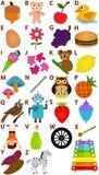 Vector Geplaatst Alfabet: A aan Z Stock Foto