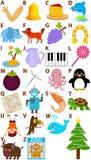 Vector Geplaatst Alfabet: A aan Z stock illustratie