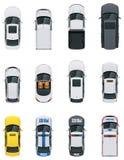 Vector geplaatste auto's Royalty-vrije Stock Afbeelding