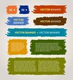 Vector geplaatste banners Stock Foto