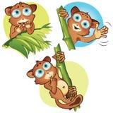 Vector geplaatste beeldverhaal kleine dieren Royalty-vrije Stock Afbeelding