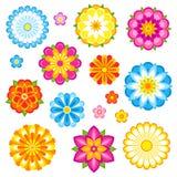 Vector geplaatste bloemen Royalty-vrije Stock Afbeelding