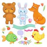 Vector geplaatste dieren Stock Afbeelding