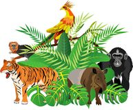 Vector geplaatste dieren Royalty-vrije Stock Fotografie