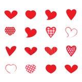 Vector geplaatste harten Stock Foto
