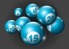 Vector Geplaatste het Aantalballen van Bingo/van de Loterij Royalty-vrije Stock Fotografie