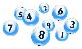 Vector Geplaatste het Aantalballen van Bingo/van de Loterij Royalty-vrije Stock Afbeelding