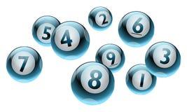 Vector Geplaatste het Aantalballen van Bingo/van de Loterij Royalty-vrije Stock Afbeeldingen
