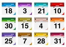 2015 vector Geplaatste Kalenderpictogrammen Royalty-vrije Stock Afbeeldingen