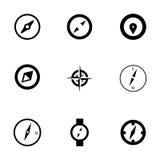 Vector geplaatste kompaspictogrammen Royalty-vrije Stock Foto's