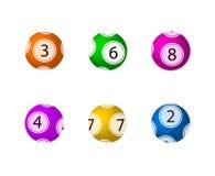 Vector Geplaatste Loterijballen, Kleurrijke Ballen Als achtergrond vector illustratie