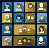 Vector geplaatste mensenpictogrammen Royalty-vrije Stock Afbeelding