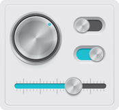 Vector geplaatste metaalwijzerplaten Royalty-vrije Stock Afbeeldingen