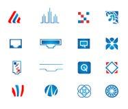 Vector geplaatste netwerkpictogrammen Stock Afbeeldingen