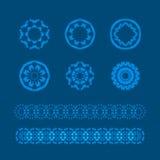 Vector geplaatste ornamenten royalty-vrije illustratie