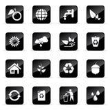 Vector geplaatste pictogrammen Royalty-vrije Stock Foto's