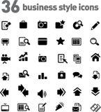 Vector geplaatste pictogrammen stock fotografie