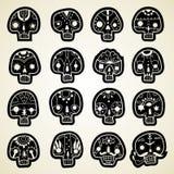 Vector geplaatste schedels royalty-vrije stock afbeelding