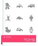 Vector geplaatste speelgoedpictogrammen Royalty-vrije Stock Foto's