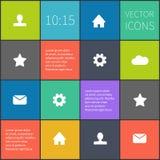 Vector geregeld kleurrijk ui Stock Foto's