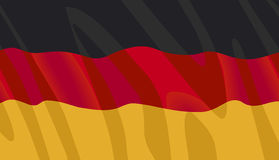 Vector German Flag. Waving flag of Germany in vector format Royalty Free Stock Photos