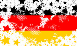 Vector German grunge flag. Using for decoration works. Vector Deutsch grunge flag Stock Photography