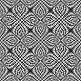 Vector geruit naadloos patroon pop-artstijl Vierkant herhaal ontwerpelement Stock Fotografie