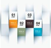 Vector Geschäftsschrittpapier und Zahldesignschablone. Lizenzfreie Stockbilder