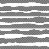 Vector Gescheurde Document Randen, Geplaatste Ontwerpelementen royalty-vrije illustratie