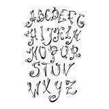 Vector geschilderde alfabetbrieven ABC voor uw Stock Afbeelding