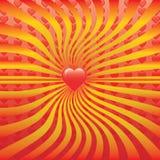 Vector geïsoleerde hart Stock Afbeelding