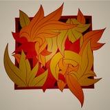 Vector gestileerd ornament in de vorm van bladeren, Stock Fotografie