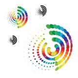 Vector gestippelde symbolen Stock Afbeelding