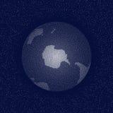 Vector gestippelde wereld gestileerde bol Antarctis Stock Afbeelding