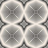 Vector gestreept naadloos patroon met diagonale dwarslijnen, strepen, sterren royalty-vrije illustratie