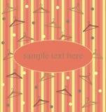 Vector gestreepte achtergrond met hangers en plaats voor tekst Stock Afbeelding