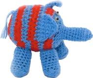 Vector gestrickten Elefanten stockfotografie