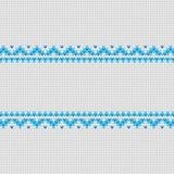 Vector gestrickten Rahmenhintergrund whith Platz für Text Lizenzfreie Stockbilder