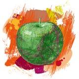 Vector getrokken appel stock illustratie