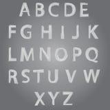 Vector Getrokken het Alfabetdoopvont van de Borstelstijl Hand Stock Afbeeldingen