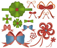 Vector of Gift Bows with Ribbons Royalty Free Stock Photography