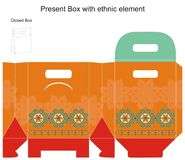Vector gift box. Vector template design for present box Royalty Free Stock Image