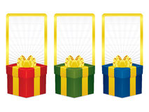 Vector gift box banners Stock Photo